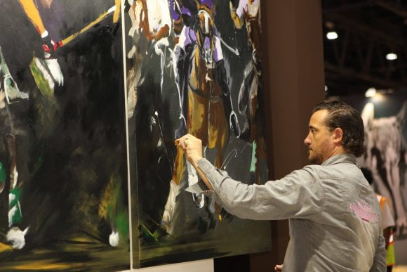 Artist Remy Bertoche of France