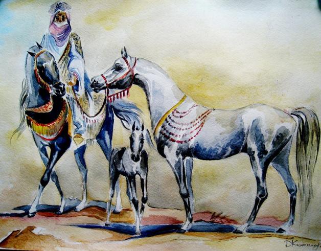 طرائف وفكاهات تعلقت بالخيل العربية الأصيلة