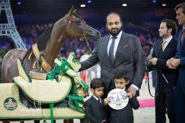 النتائج النهائية بالصور لبطولة العالم باريس 2014 لجمال الخيل العربية الأصيلة