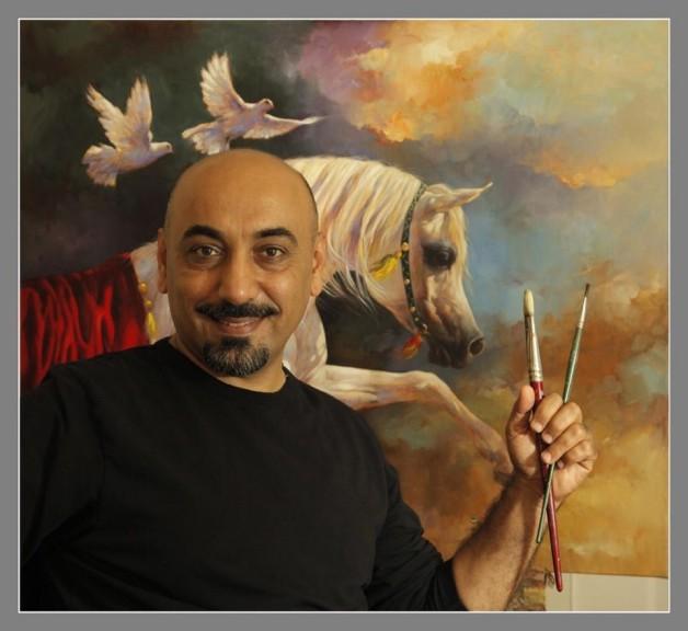 الفنان علي المعمار: أجمل لوحاتي عن الخيل لم تنجز بعد
