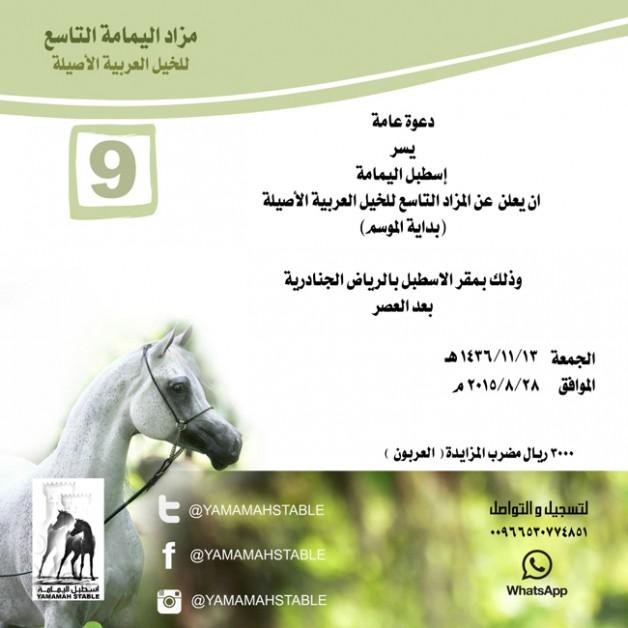 مزاد اليمامة التاسع للخيل العربية (بداية الموسم )