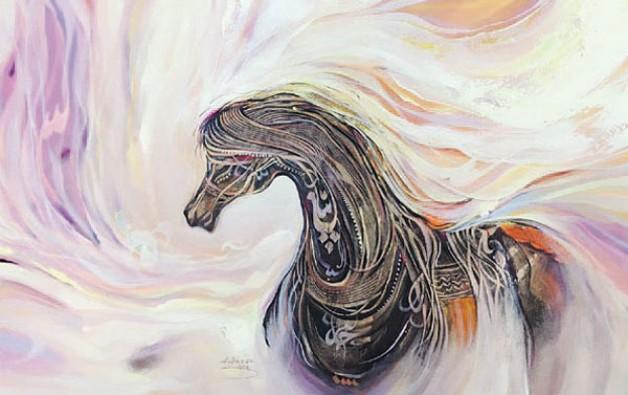 «جمال الخيل» يزين معرض الفنون البصرية بالجنادرية