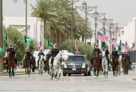 «الخيول والخويا» علي رأس مراسم استقبال ترامب