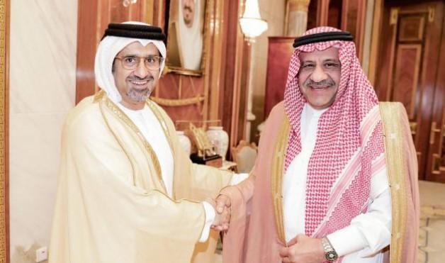 خالد بن سلطان يستقبل رئيس الاتحاد الدولي لسباقات الخيل العربية