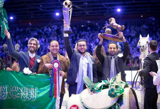 ملاك الخيل العربية بالمملكة يقيمون حفلاً إحتفاء بإنجاز ات مربط السيد في بطولة العالم