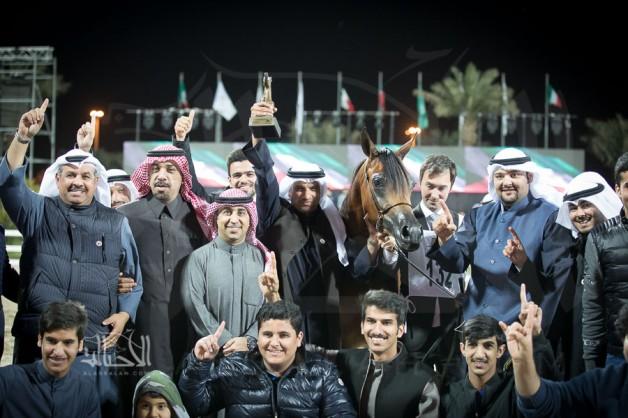 أربعة ألقاب غالية لـ(الخشاب) بمهرجان الكويت الدولي 2018 للجواد العربي