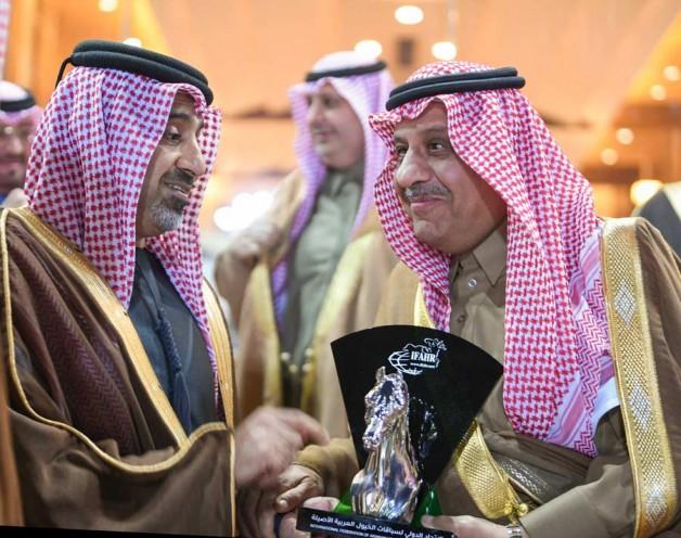 """الاتحاد الدولي لسباقت الخيل العربية """"افهار"""" يكرم الأمير خالد بن سلطان"""