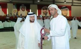 سلطان بن زايد يشهد إنطلاق بطولة جمال الخيول العربية بالختم