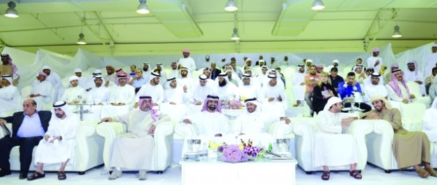 عمار النعيمي يشهد انطلاقة بطولة عجمان ٢٠١٥ لجمال الخيل العربية