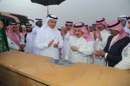 الأمير فيصل بن بندر يضع حجر الأساس لمشروع مركز الملك عبدالعزيز للخيل العربية الأصيلة بالثمامة