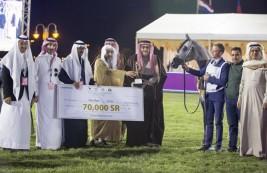 مربط عذبه سيطرة تامة على الذهب للخيل السعودية الأصل والمنشأ ببطولة مركز الملك عبدالعزيز – النتائج النهائية