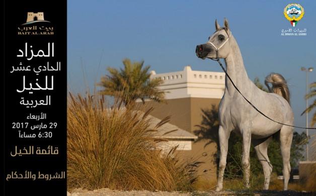 (بيت العرب) ينظم المزاد الـ11 للخيل العربية – قائمة الخيل المعروضة