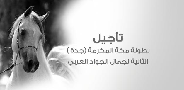 تأجيل بطولة مكة المكرمة (جدة ) الثانية لجمال الجواد العربي