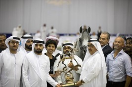 Sundown KA dominates the show to keep the Senior Stallions Championship Gold with Al Saqran Stud in DIAHC 2019