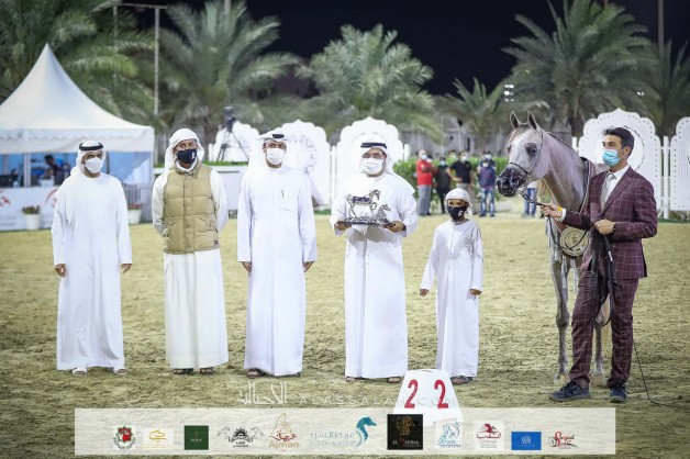 ذهب وفضة وبرونز وكأس فخر الانتاج المحلي لمربط دبي في مهرجان الشارقة 2021